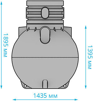 Септик Накопительный Rodlex S-1500